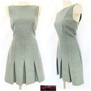 XOXO Gray Sheath Pleated Dress